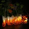LED Cadena Luces Con Pilas 2 M 10 LEDs Luces de Calabaza De Halloween de vacaciones escarda la fiesta de Navidad La Decoración de interior Luces