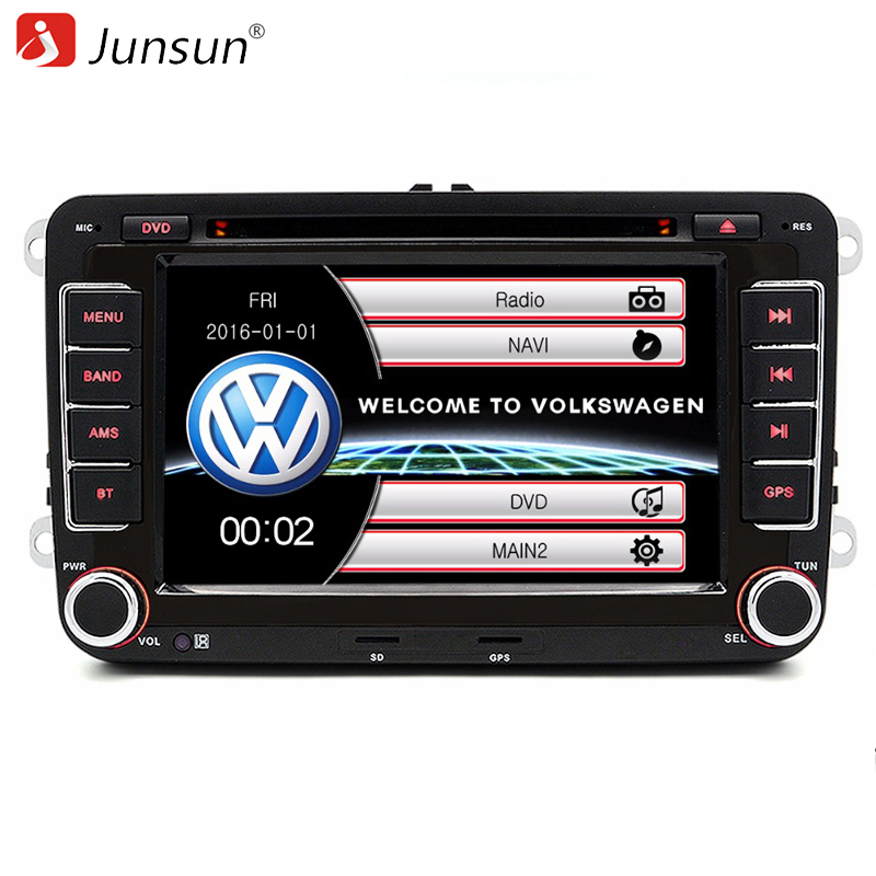 junsun 7 inch 2 din car dvd gps radio player for volkswagen vw golf 6 touran passat b7 sharan. Black Bedroom Furniture Sets. Home Design Ideas