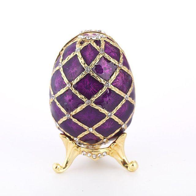 Jewelry Box Russia Faberge Easter Egg Purple Jewelry Trinket Box Vintage Rhinestone  Bejeweled Enamel Trinket Box 4d09a0b12344