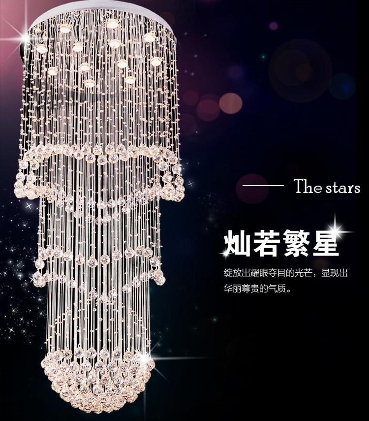 Luxury long crystal chandelier modern lustre lagre home lighting luxury long crystal chandelier modern lustre lagre home lighting dia80h180cm crystal stair chandelier lighting aloadofball Images