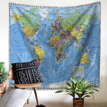 Buy picnic banner and get free shipping on aliexpress fashion polyester printing tapestry banner tablecloth beach mat picnic mats 9 models retro world map wall gumiabroncs Image collections