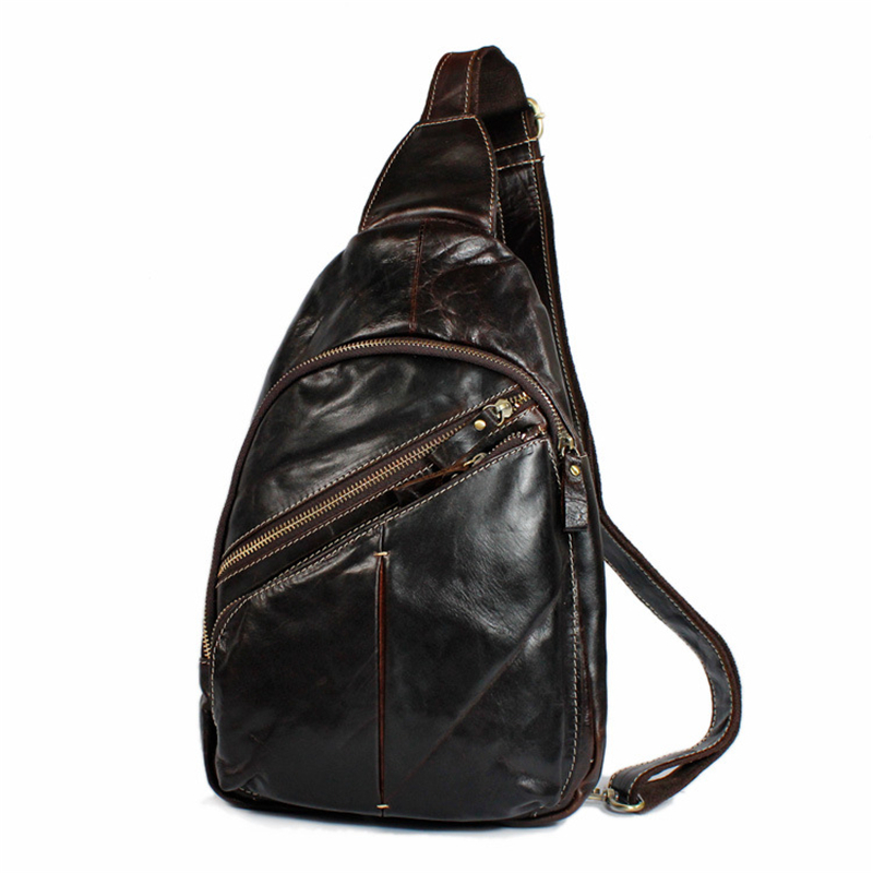 ФОТО motorcycle chestpack rider genuine cowhide leather Tide Fashion Shoulder messenger Crossbody  travel purses wallet Packet bags