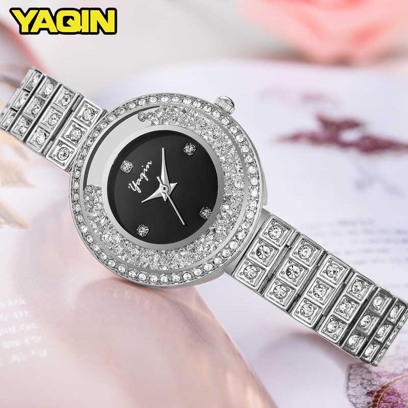 2017 yeni İzle kadınlar lüks marka yeni moda kadınlar quartz saat hediye bayan tam paslanmaz çelik elmas izle Relogio Feminino