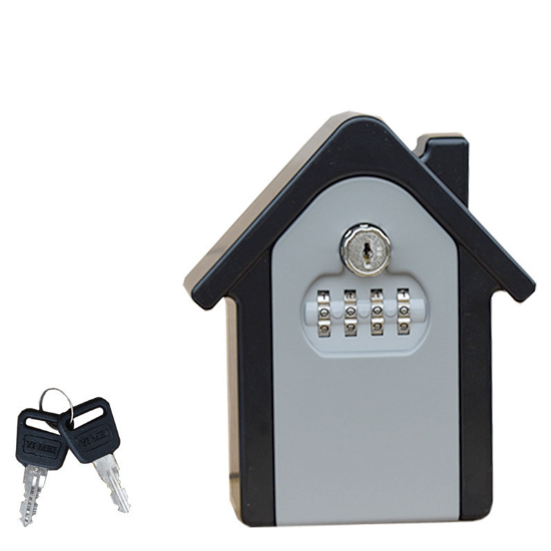 Key Storage Lock Box Wall Mount Holder 4 Digit Combination Safe Outdoor Security with key realtor wall mount key lock box with 10 digit push button combination is weather resistant for indoors or outdoors