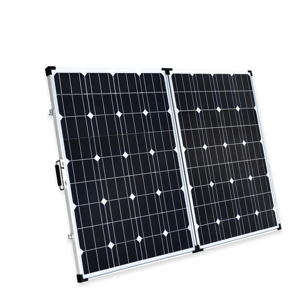 Boguang 2*100 Watt de 200 w painel solar dobrável carregador Solar Portátil celular Monocristalino módulo 10A controlador USB 12 v bateria