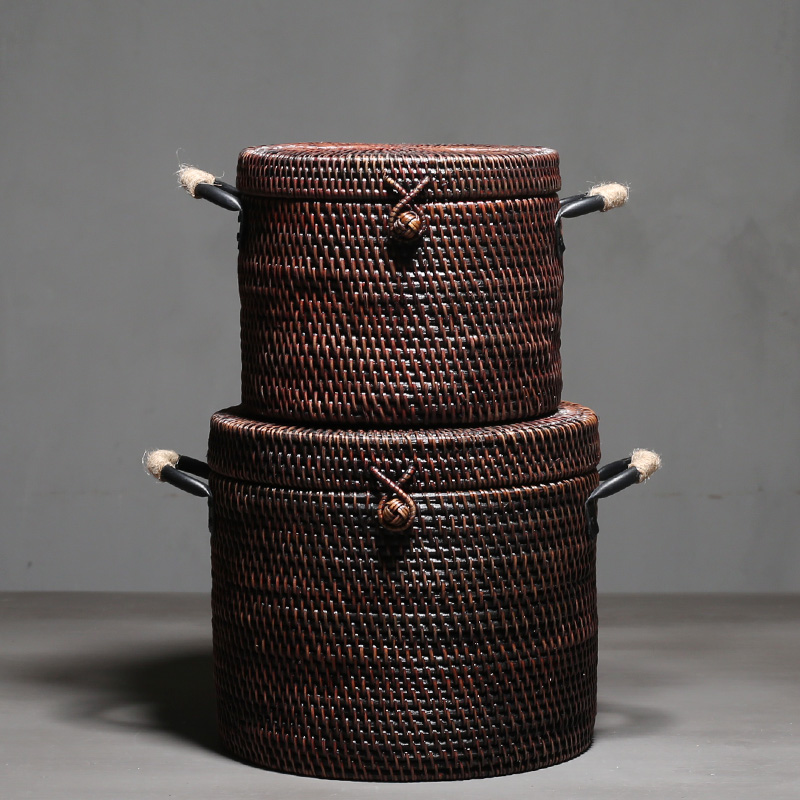 High Quality Hand Made Natural Rattan Pu-Erh Tea Box