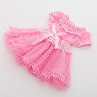24 M a 5 anni del bambino e capretti di estate delle ragazze rosa giallo principessa del merletto di tulle vestiti da partito dei bambini di modo pageant prom abiti