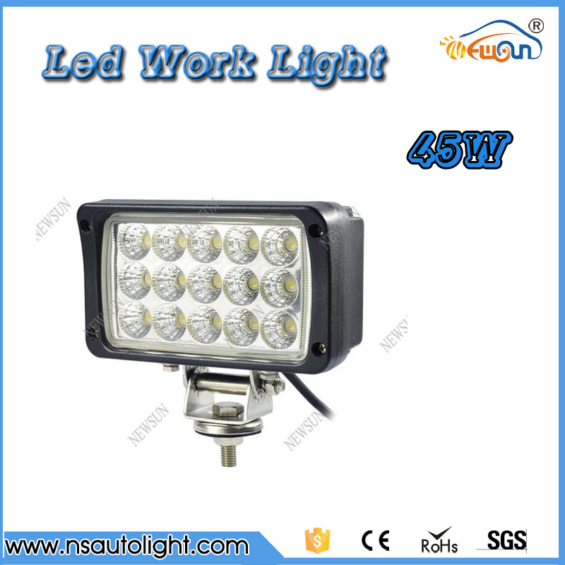 Waterproof High Power 45W Epistar Led Work Light Spot Beam Driving Fog Lamp Car Truck Boat 4X4 SUV IP68 Offroad LED Worklight 19inch 40w 6500k ip67 4000lm car led high power working light headlights for truck outdoor work lamp