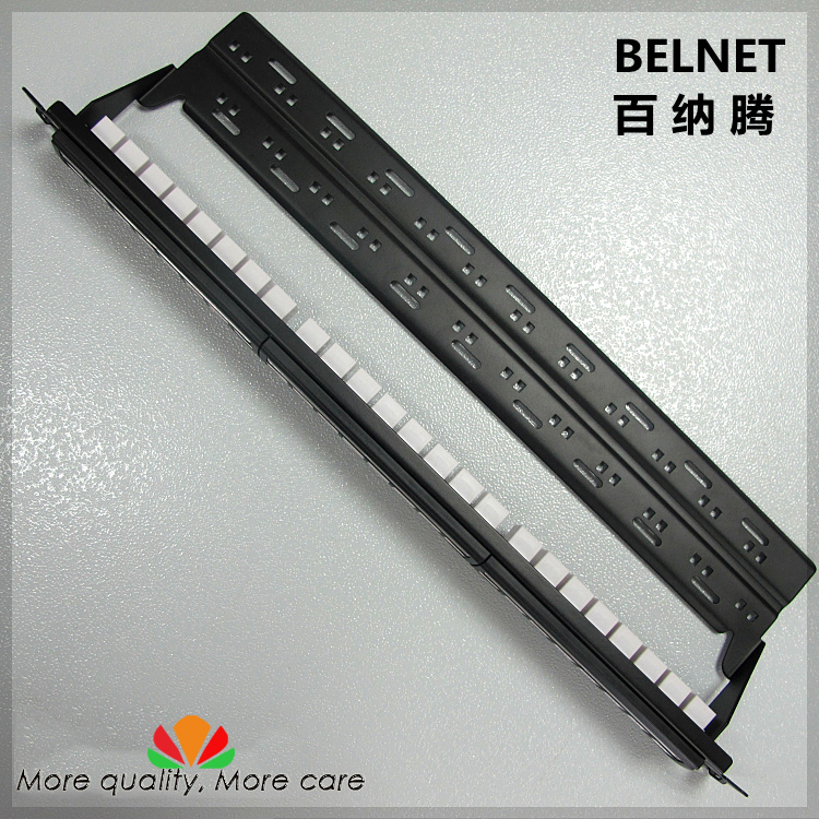 UTP CAT6 gigabit network patch panel 24-ports Tool-Free straight-through Network Distribution end-to-end distribution frame