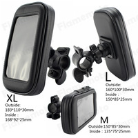 Motorcycle Bicycle Handlebar Holder Mount Waterproof Bag Case For Cell Phone GPS Sell M
