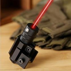 Poderosa Tactical Mini Red Dot Laser Sight Scope Weaver Picatinny Mount Set para Rifle Pistola Tiro Airsoft Caça Riflescope