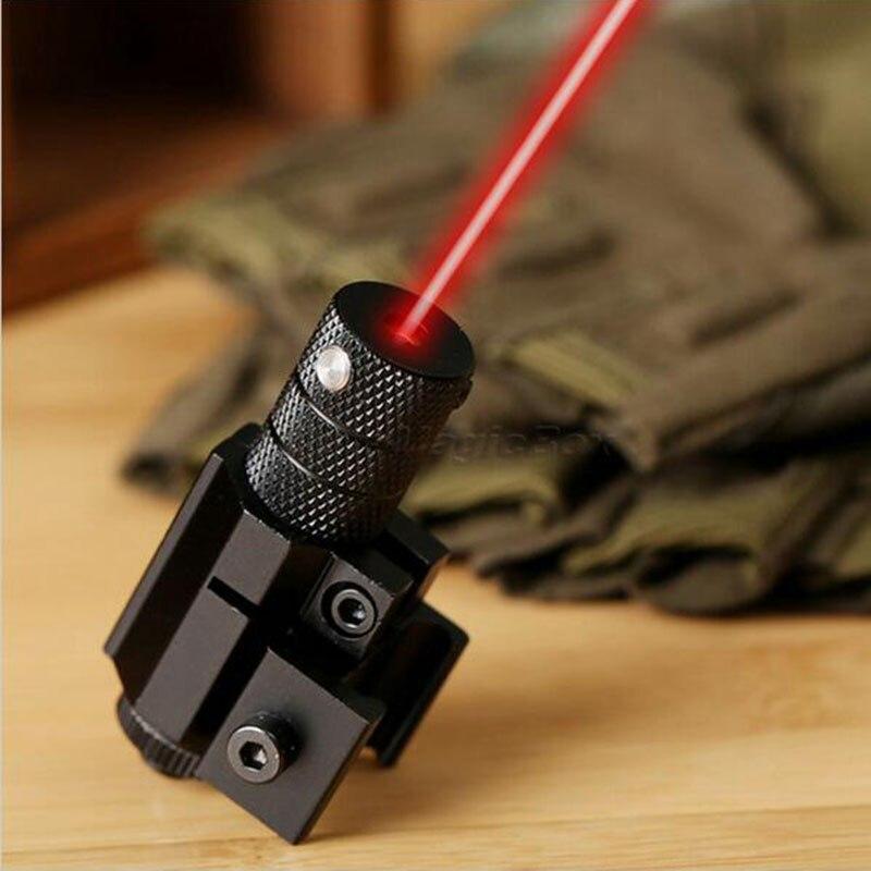 Powerful Tactical Mini Red Dot Laser Sight Scope Weaver Picatinny Mount Set for Gun Rifle Pistol Shot Airsoft Riflescope Hunting