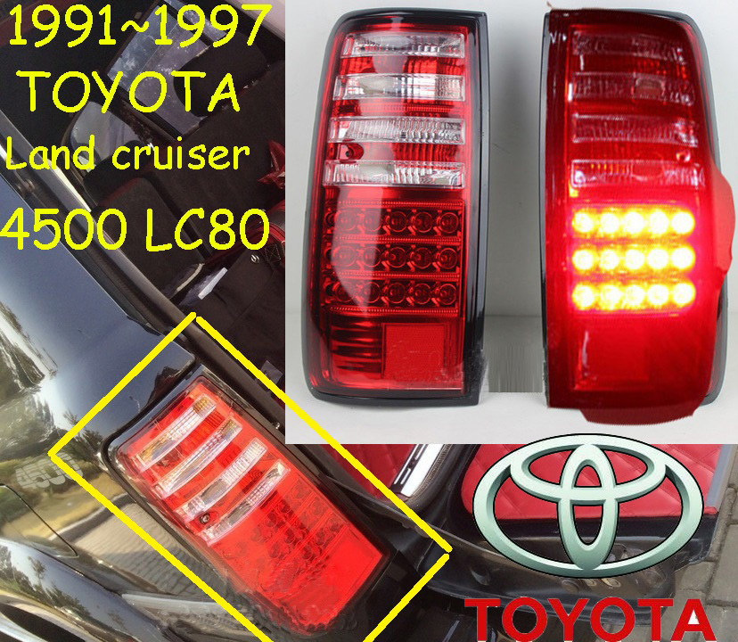 car-styling,Cruiser Taillight,FJ80/LC80,1990~1997,led,Free ship!2pcs/set,Cruiser fog light;car-covers,Cruiser tail lamp,Prado