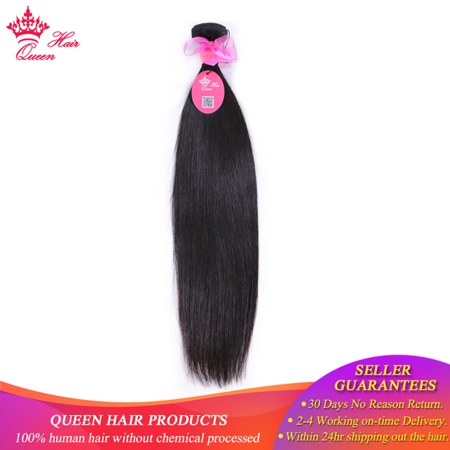Queen Hair Brazilian Hair Weave Bundle Straight Hair Bundles 100% Human Hair Extension Products 1pc Natural Color Remy