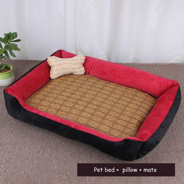 Dog Beds Mats Sofa Kennel Doggy Warm House Winter Cot Pet Sleeping Bed Puppy Small