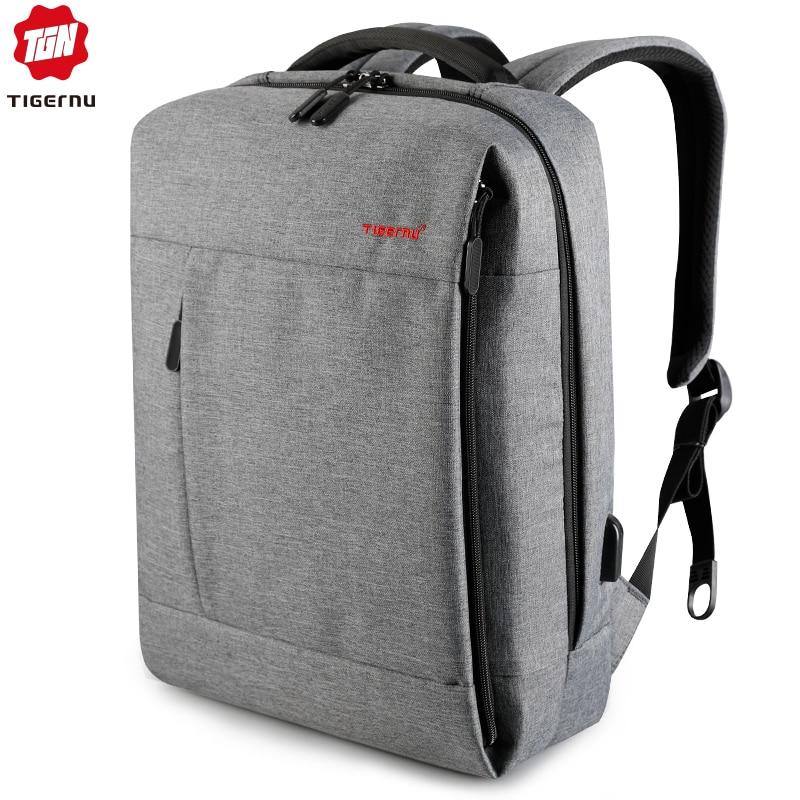 Tigernu Brand USB Charge Men Backpack Anti theft Splashproof Mochila Notebook Backpack Male Backpack Women school
