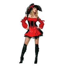 Latest  Little Red Riding Hood Dress Off-Shoulder Anime Dress Lace Cosplay Feminino BI80