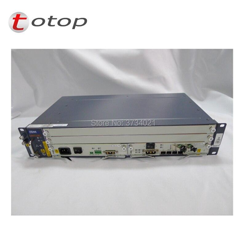 Оригинальный OLT ZTE C320 с AC + DC Питание 1 * SMXA (1 г) + 1 * коляска + 16 Порты и разъёмы GTGH C + карта