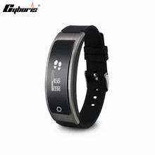 Cyboris Bluetooth Sensible Contact Display screen Bracelet Sensible Band Coronary heart Price Monitor Health Wristband Name Reminder for Android iOS