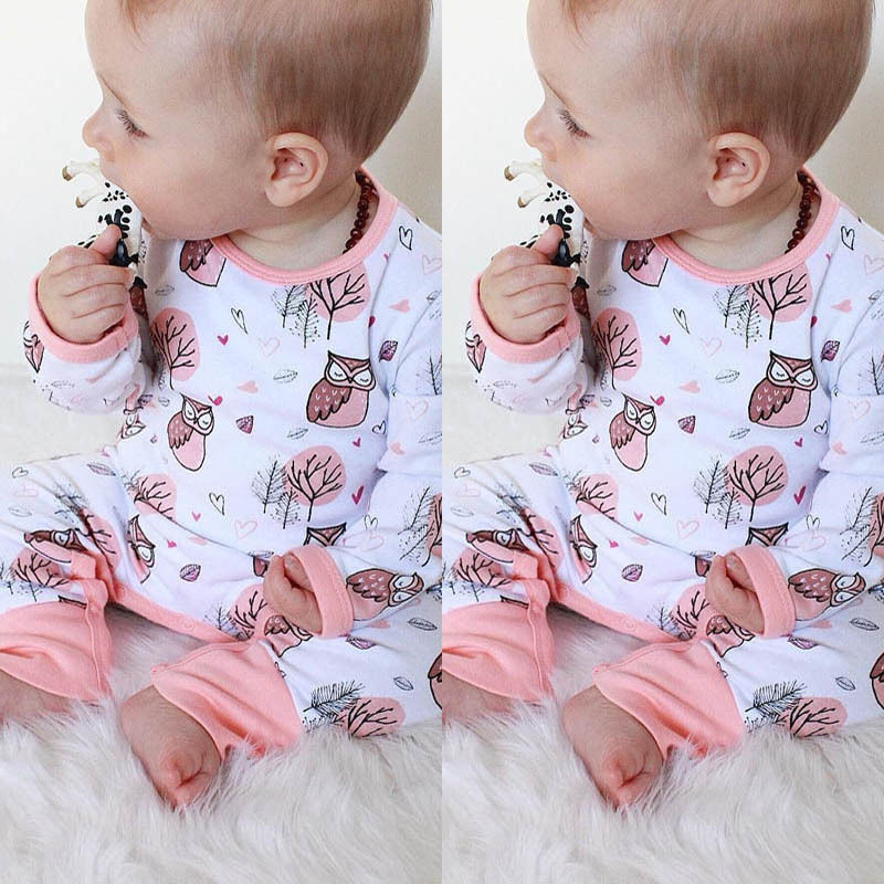 Cotton Newborn Baby Boys Girls Clothing Romper Long Sleeve Cotton Jumpsuit Outfit Baby Girl Set Clothes 0-24M newborn infant baby boys girls kids clothing cotton romper jumpsuit colorful warm zipper rompers baby girl clothes outfit