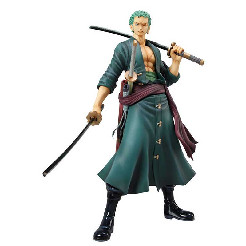One Piece Roronoa Zoro Sauron Japanese Cartoon 24CM PVC Toy Two Years Later Sauron Figure Toy Doll Model Collection min021 new hot 17cm one piece 15th roronoa zoro action figure toys doll collection christmas toy with box