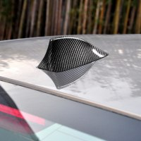 Car Antenna Cover Decoration Car Styling Accessories Carbon Fiber Shark Fin Antenna Cover Sticker