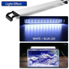 Adjustable Aquarium 2835 Fish Tank 36/54/72 LED Light Blue/White 30/40/50cm Bar Submersible Waterproof Clip Lamp