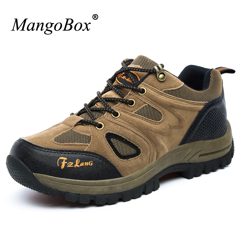 Autumn/Winter Men Outdoor Hiking Shoes Big Size 13 Sport Shoes Mens Climbing Mountain Boots Brown/Army Green Hiking Boots Men big size 46 men s winter sneakers plush ankle boots outdoor high top cotton boots hiking shoes men non slip work mountain shoes