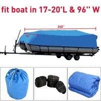 Прочный 600D Оксфорд водостойкие покрытием ткань тяжелых Trailerable чехол для Понтонной лодки инструмент для хранения интимные аксессуары