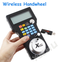 Wireless Electronic Handwheel Mach3 USB MPG Pendant For Mach 3 4 Axis Engraving CNC Wired Handwheel A545A