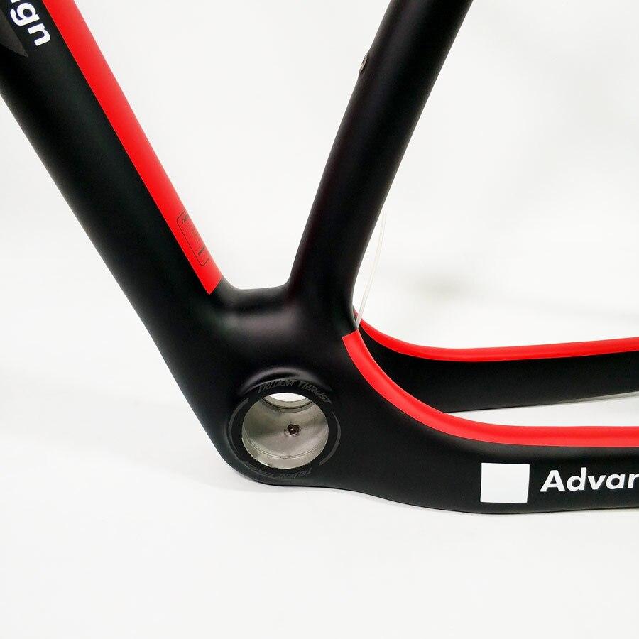 Ածխածնի մանրաթել Red mtb Bicycle Frame 29e 27.5er - Հեծանվավազք - Լուսանկար 5