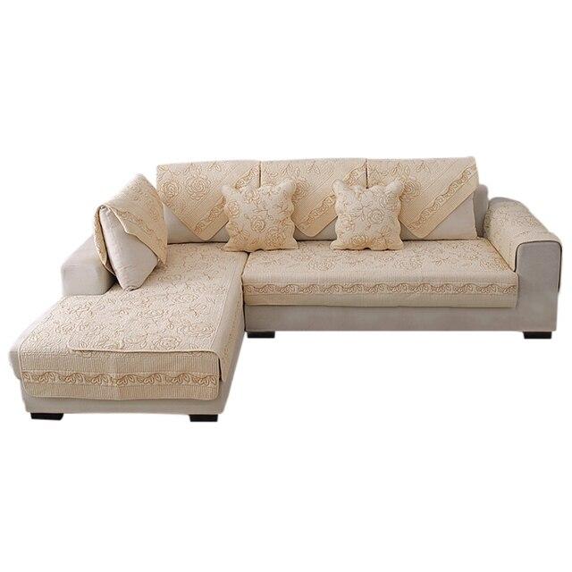 Europe Sofa Cover White Beige Khaki Slipcovers Cotton Covers For Living Room Furniture