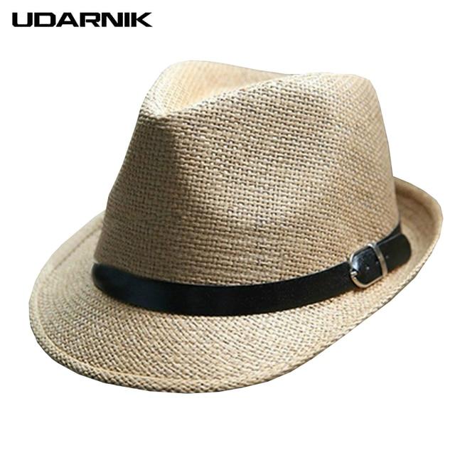 f2a14f1ca4b55 Unisex mujer hombres paja playa recorrido sol sombrero ancho Brim Trilby  Panamá Cap transpirable sombreros casuales
