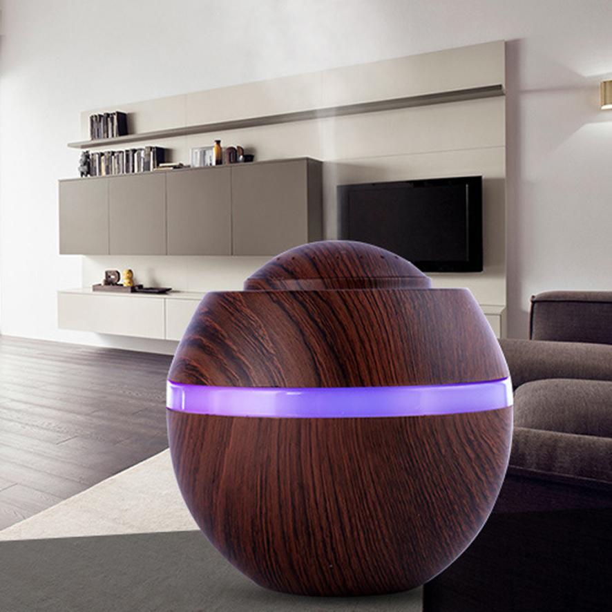 Hause Luftbefeuchter 500 ml USB Aroma Luftbefeuchter Ultraschall LED 7 Farbwechsel Ätherisches Öl Diffusor MAY1