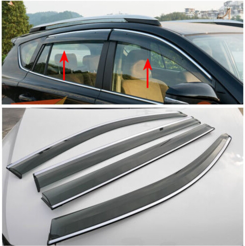 Window Wind Deflector Visor Rain Sun Guard Vent For Subaru Forester 2013 2014 4pcs set smoke sun rain visor vent window deflector shield guard shade for cadillac xt5 2016 2017