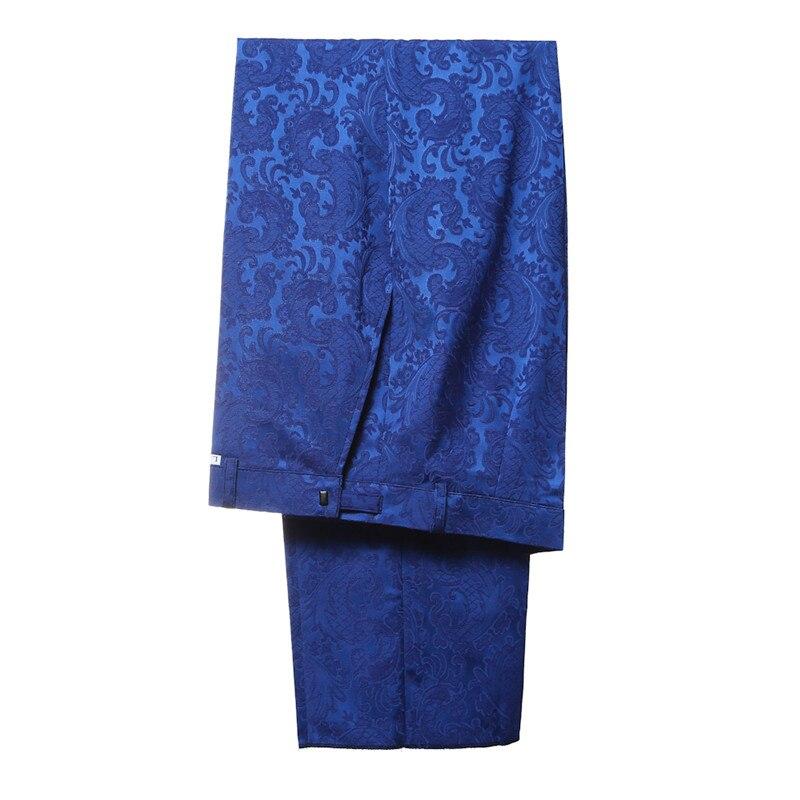 YFFUSHI 2018 Brand Men Suit 3 Pieces Luxury Blue Jacquard Tuxedo - Herrkläder - Foto 5