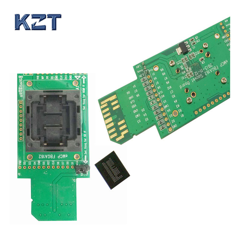 EMCP Reader Тесты разъем с интерфейсом SD bga162 bga186 Размер 12x16 мм Шаг 0.5 мм программист адаптер для восстановление данных открытым верхом