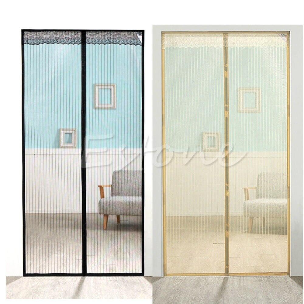 Mesh Screen Door : Magic mesh screen door magnetic anti mosquito bug doors