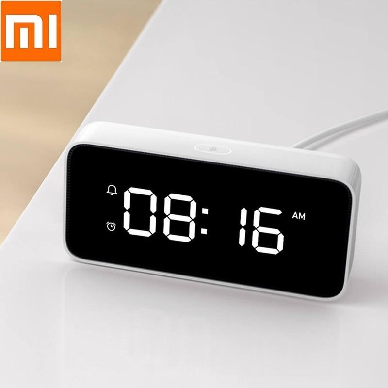 Xiao mi intelligent réveil à diffusion vocale ABS Table Dersktop horloges travail d'étalonnage du temps avec mi home app horloge intelligente