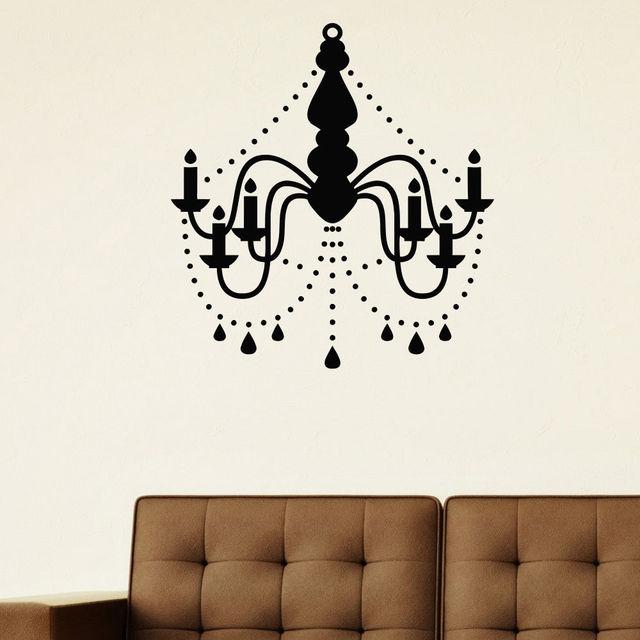Wall decal vinyl sticker chandelier ceiling lamp decor in wall wall decal vinyl sticker chandelier ceiling lamp decor mozeypictures Gallery