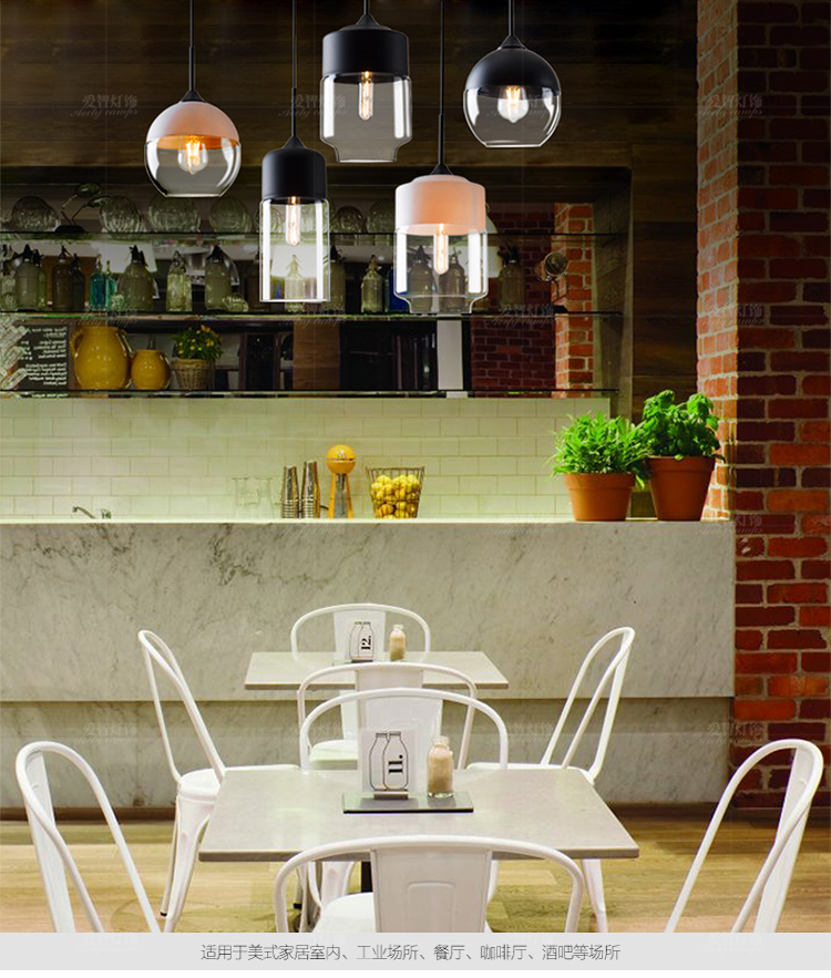 American simple pendant lamps living room bedroom glass chandelier single - head bar restaurant chandeliers glass lamps ring chandelier led american village living room head simple restaurant solid wood circle new cl mz133