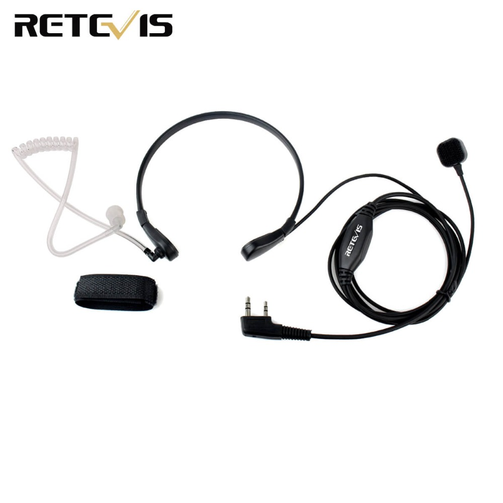 Throat Mic PTT Earpiece for Kenwood BAOFENG UV-5R Baofeng BF-888S Retevis H777 Retevis RT3 RT-5R TYT QUANSHENG Ham Radio C9007A