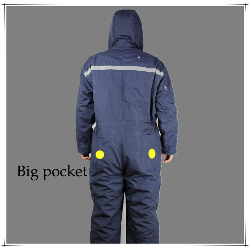 Winter working clothing Men wadded padded safety clothing outdoors work wear uniforms winter thicken warm protective overalls (3)