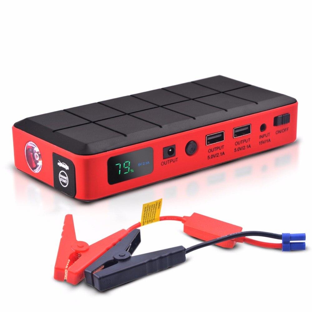 Voiture d'urgence Jump Starter Puissance Mini Portable banque d'alimentation de Secours Chargeur de Batterie pour L'essence et Diesel de voiture Auto Booster