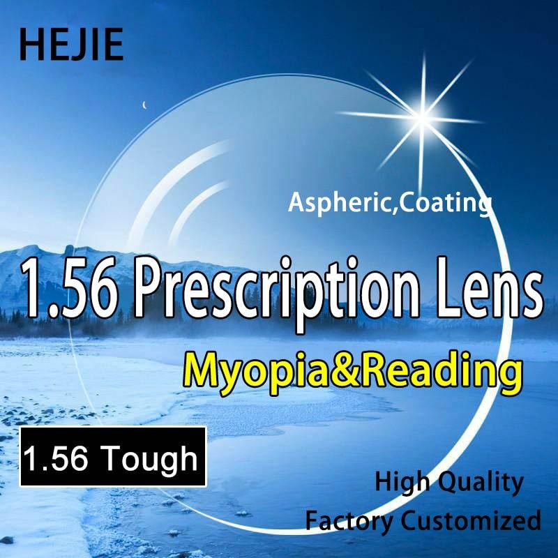 Lentille de Prescription de myopie, hyperopie et lecture dure de l'indice 1.56, antiéblouissement asphérique dur de revêtement anti-rayures