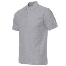 2018 Мужская рубашка поло Бренд Мужские сплошные цвета Рубашки поло Camisa Masculina Мужские повседневные хлопчатобумажные рубашки с коротким рукавом Hombre Jerseys