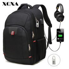 XQXA Laptop Backpack Anti-Theft Large Travel Bag USB College School Computer Rucksack for Men 17 Inch Notebook