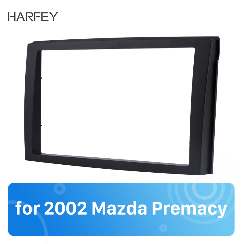 Harfey Car <font><b>Radio</b></font> <font><b>Frame</b></font> For 1999 2000 2001 2002 2003 2004 <font><b>Mazda</b></font> Premacy Dash Player Auto Mount Installation Surround Cover Trim image