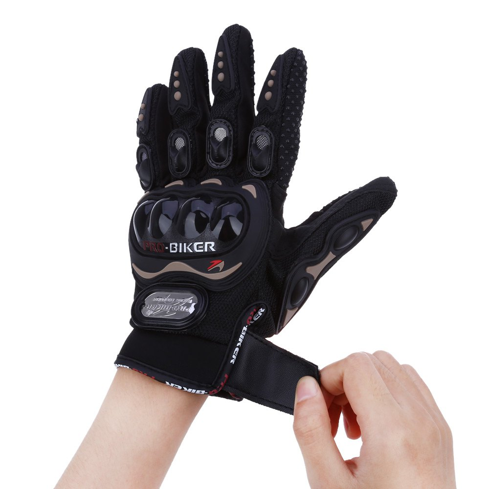 Motorcycle gloves price - Professional Sport Motorcycle Gloves Full Finger Protective Gear Black Carbon Fiber Moto