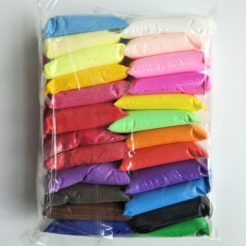 Play Dough Polymer Air Dry Light Clay Plasticine Light Soft Modeling Clay Handgum Jumping DIY Fimo Playdough Educational Toys
